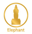 chess elephant icon vector image