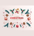 christmas background holly spruce jingle a vector image vector image