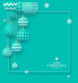 christmas green baubles with geometric patterns vector image vector image