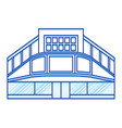 cinema shopping center lines icon vector image vector image