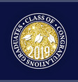 class of 2019 badge concept for shirt vector image vector image