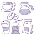 coffee icon doodle vector image vector image