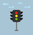 colored traffic light icon vector image