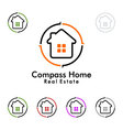 compass home represented Real estate logo vector image