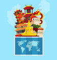 concept with flat style china vector image