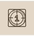 Countdown sketch icon vector image vector image