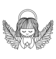 cute angel icon vector image