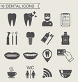 Dental icons Monochrome vector image
