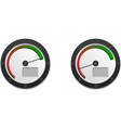 Downloads Speedometer With Two Emblems For Slow An vector image