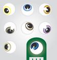 Eyeballs Angle vector image vector image