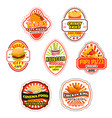 fast food icons and symbols vector image vector image