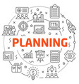 flat lines for presentation planning vector image