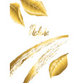 floral background with gold autumn foliage