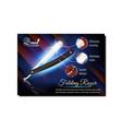 folding razor barber tool advertise poster