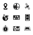 GPS icons set simple style vector image vector image