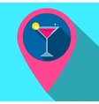 gps navigation style icon with drink Flat vector image