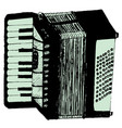 grunge retro accordion vector image vector image