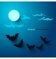 halloween party paper cut background vector image