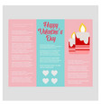 happy valentines day card with light background vector image vector image