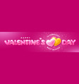 happy valentines day cute lettering with hearts vector image vector image