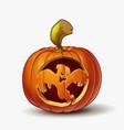 jack-o-lantern spooky ghost vector image vector image