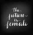 lettering inscription the future is vector image