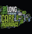 long term care insurance text background word vector image vector image