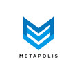 m logo concept creative minimal design template vector image vector image