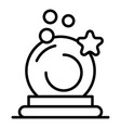 magic wizard ball icon outline style vector image vector image