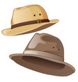 male hats in gray and brown color vector image vector image