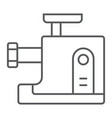 meat grinder thin line icon kitchen and cooking vector image vector image