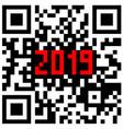 modern technologies 2019 written inside a qr code vector image vector image