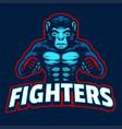 monkey mma fighter mascot vector image