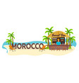morocco travel palm drink summer lounge chair vector image vector image