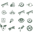 ophthalmic icons vector image