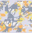 orange yellow grey iink paint splashes seamless vector image vector image