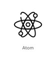 outline atom icon isolated black simple line vector image vector image
