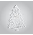 Paper openwork tree vector image
