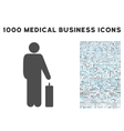 Passenger Icon with 1000 Medical Business Symbols vector image vector image