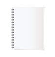 Portrait note pad vector image