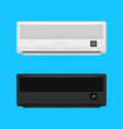 realistic detailed air conditioner set vector image