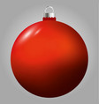 red christmas ball isolated on grey background vector image vector image