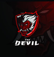 red devil logo template vector image vector image