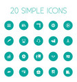 set of simple conference icons vector image vector image