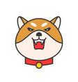 shiba inu emoticon filled outline design vector image vector image