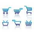 shopping cart and basket icons vector image vector image