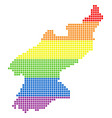 spectrum dotted lgbt north korea map vector image