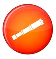 Spyglass icon flat style vector image vector image