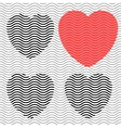 Stripes hearts seamless vector image vector image