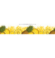 summer pineapple or ananas seamless pattern sketch vector image vector image